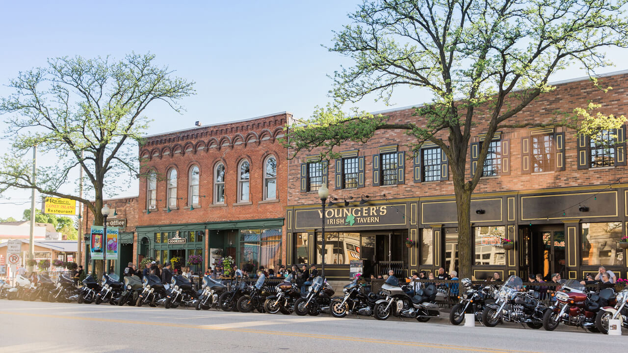 bike night event in Romeo